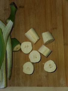 green plantain pieces