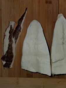 peeled cassava