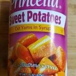 canned sweet potato