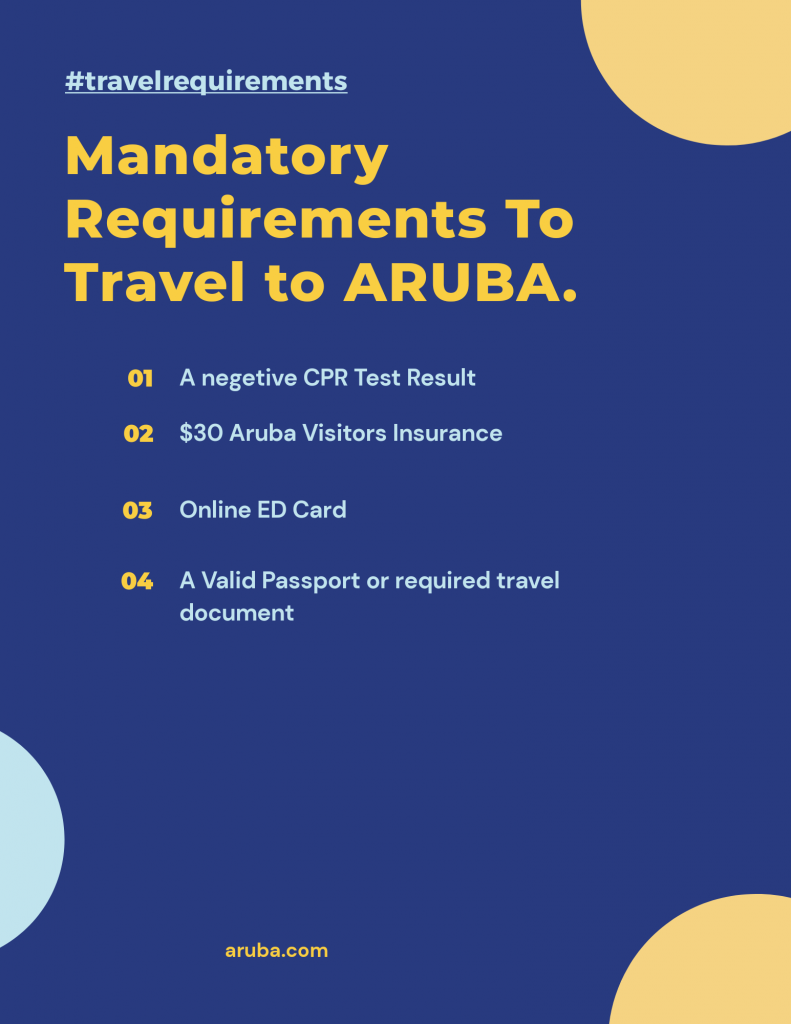 Travel requirements to aruba