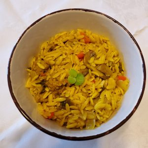 Beyond sausage meats with orzo pasta