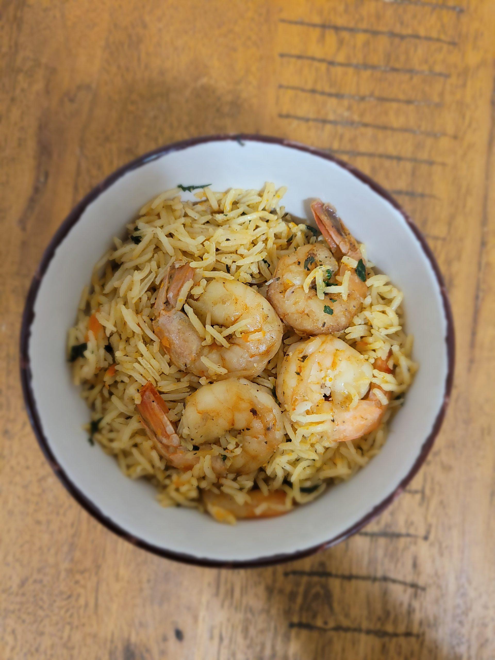 basmati rice shrimp
