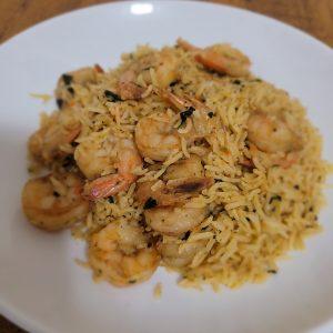 basmati rice and shrimp