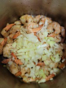 garlic onion shrimp