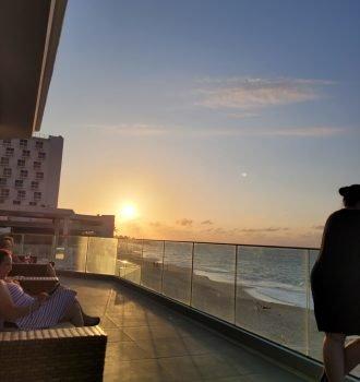 Paradise Island Beach, Bahamas sunset