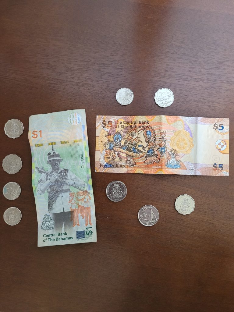 The Bahamian currency