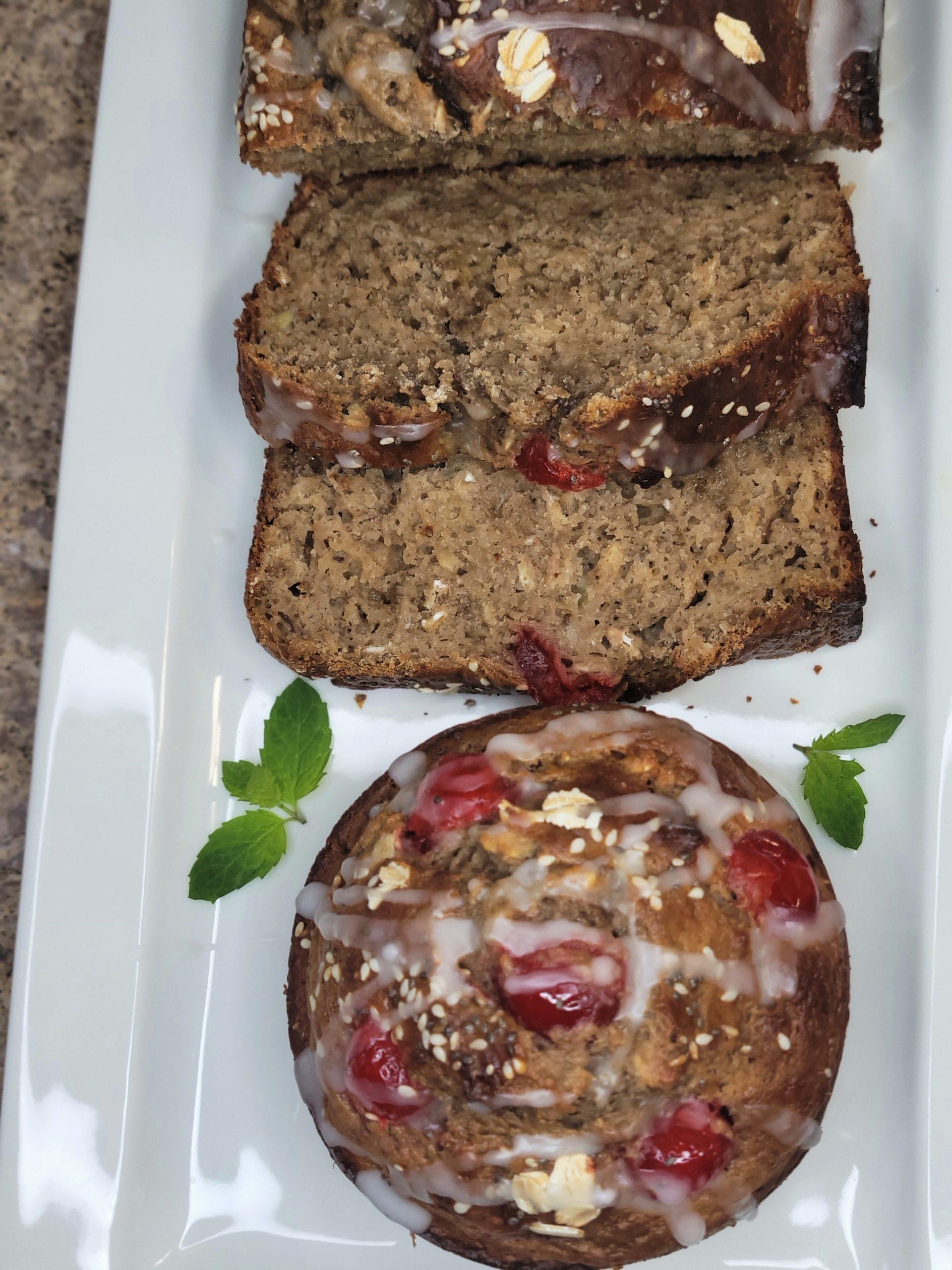 Banana bread with chia seeds