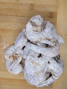 shrimp in flour