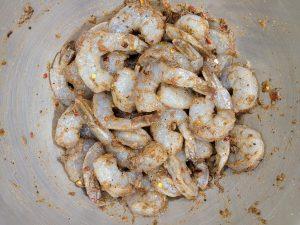 Jamaican jerk shrimp fried rice