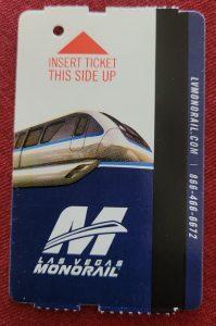 Las Vegas monorail pass